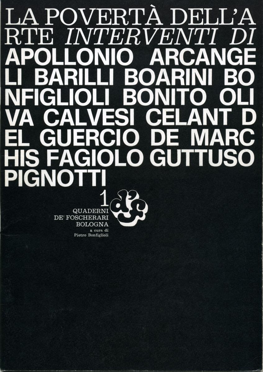 Quaderno Arte Povera 1968 - Galleria de'Foscherari.jpg