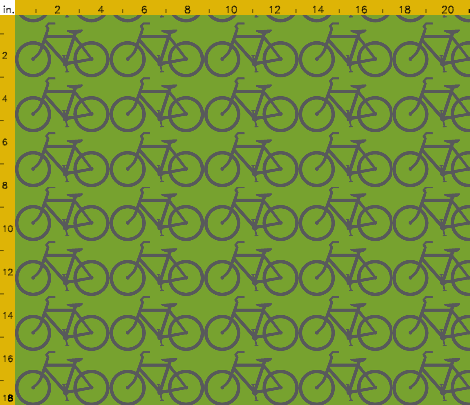 Bicycle Green & Gray