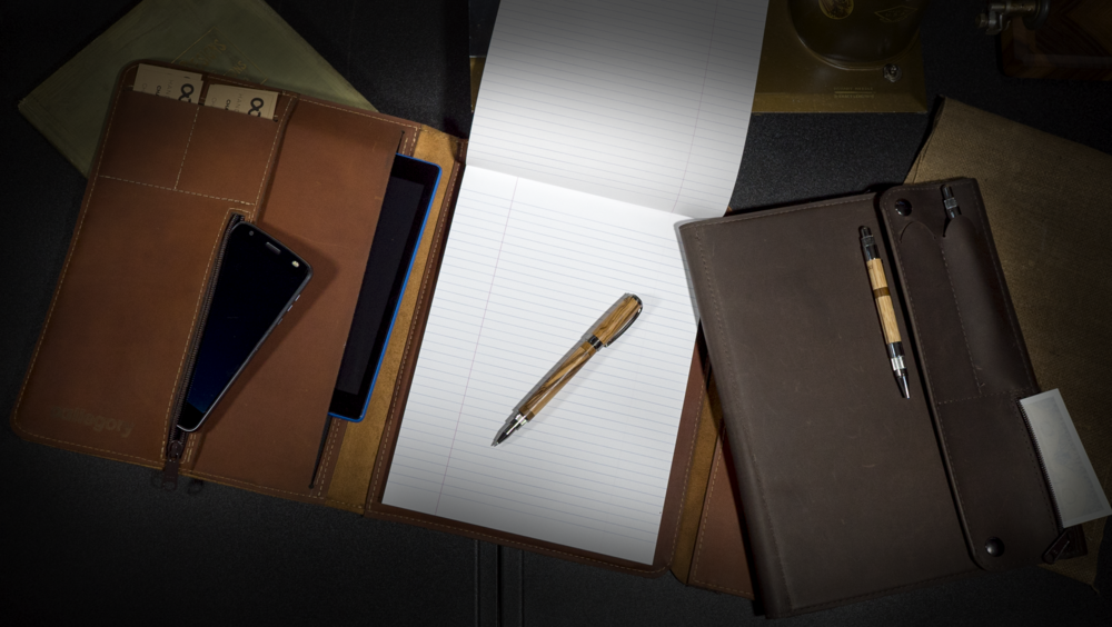 Bulletproof Padfolio - Tech pockets and a kydex core. Make the whole meeting jealous.