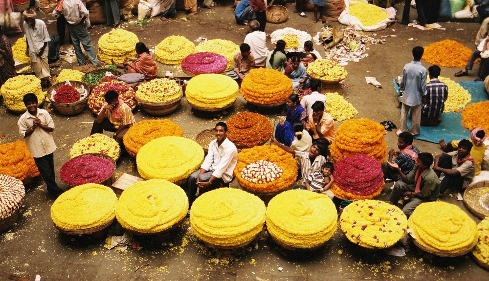 a colourful market
