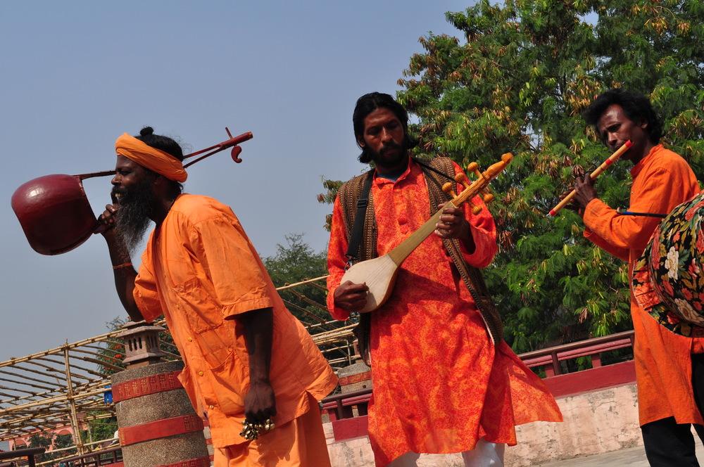 Arjun Khyapa, Babu Fakir and Mohan Pato© JANE ROWAN