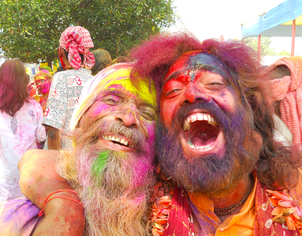 Khaibar Fakir & Shyam Khyapa during Holi times, portrayed by Jane © JANE ROWAN