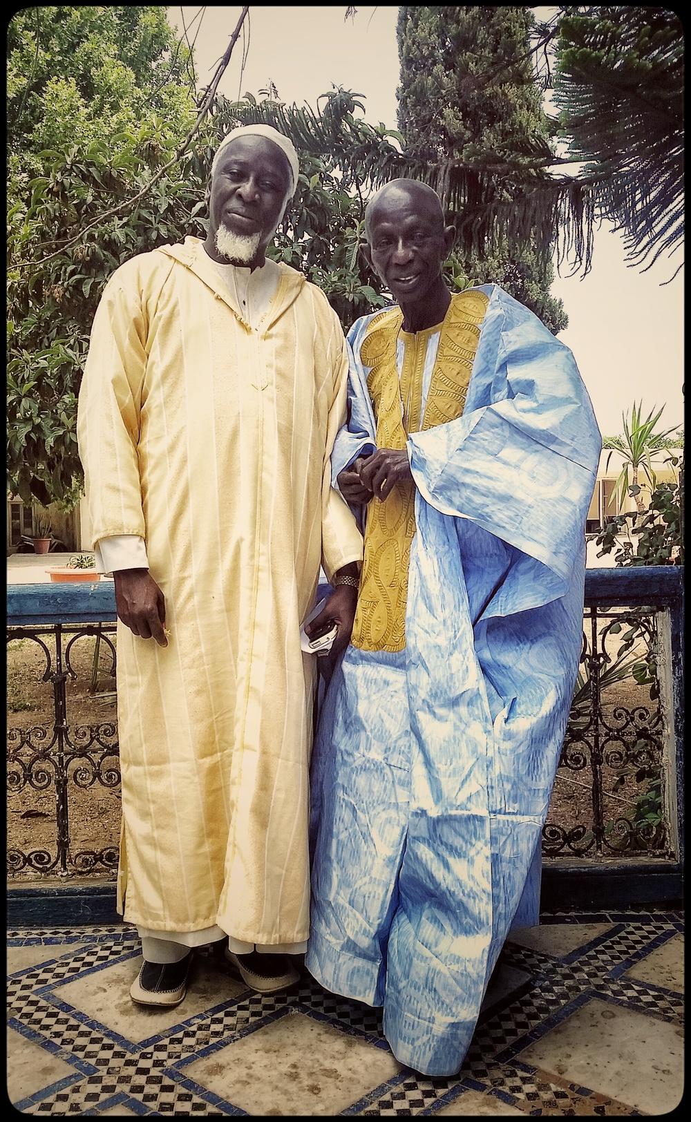 Doudou Ndiaye Rose et Imam Sy,22 mai 2015, Dar Tazi,Fès ©Edith