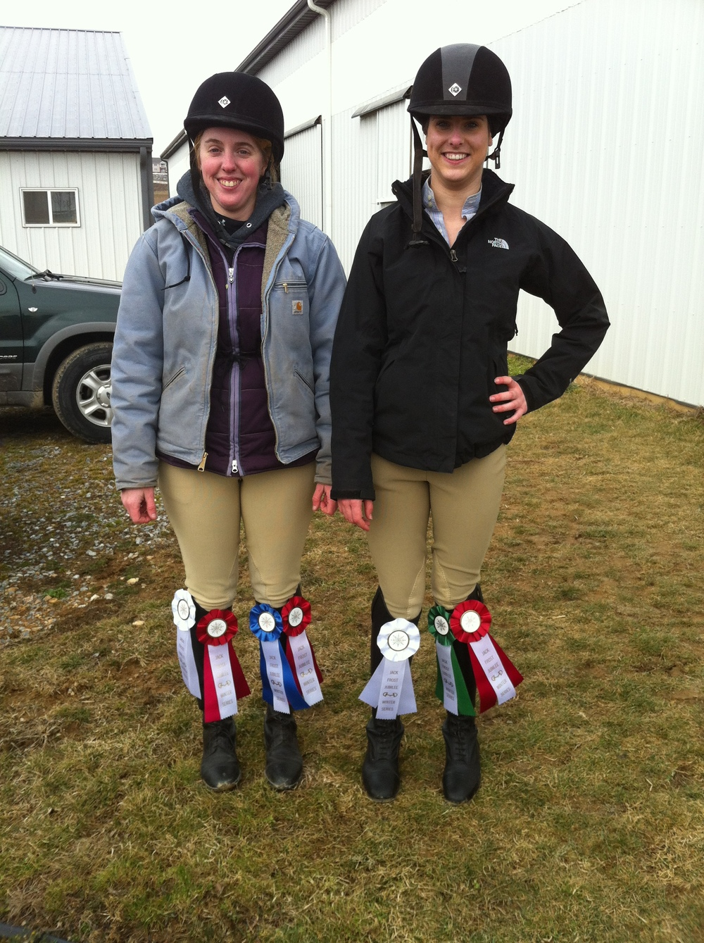 The girls with their jumping ribbons!