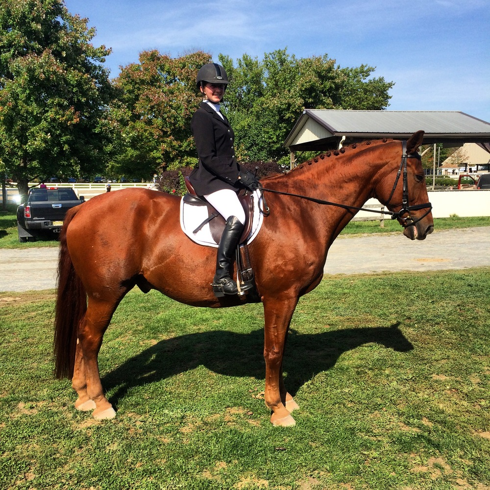 Welston (Wyatt) and I, USDF Rated 2nd level, Fall 2015