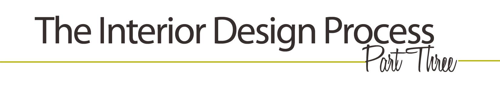 The interior design process part 3 jamie house design for Interior design process