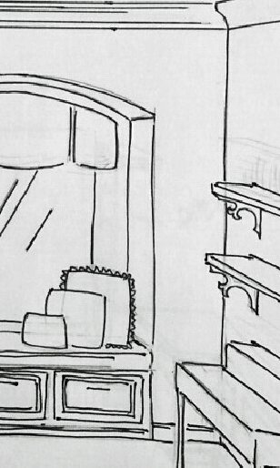 Custom built-ins concept sketch