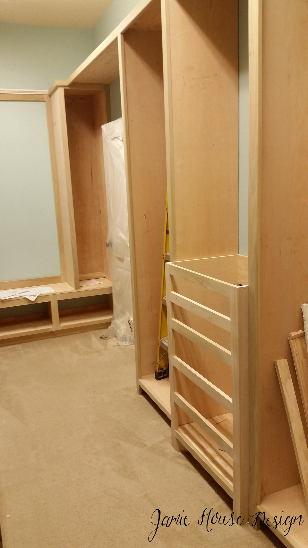 Closet in progress- Jamie House Design