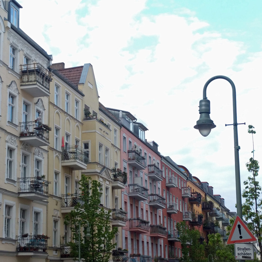 Prenzlauer Berg Berlin Germany colorful apartment buildings. Berlin interior designer Jamie House Design