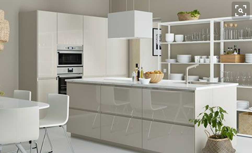 Ikea beige kitchen