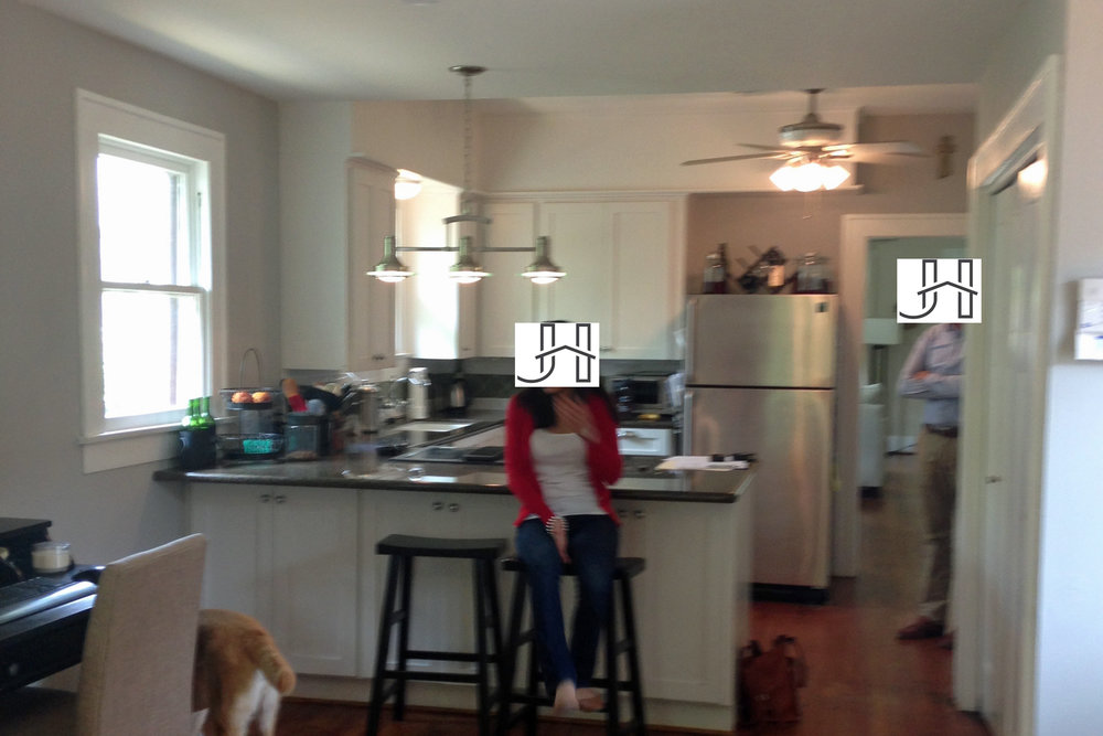 BEFORE kitchen remodel in historic Houston Heights bungalow.