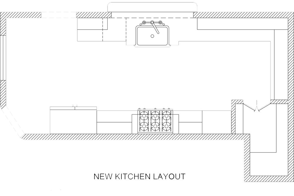 Floor-plan by Jamie House Design of new kitchen layout