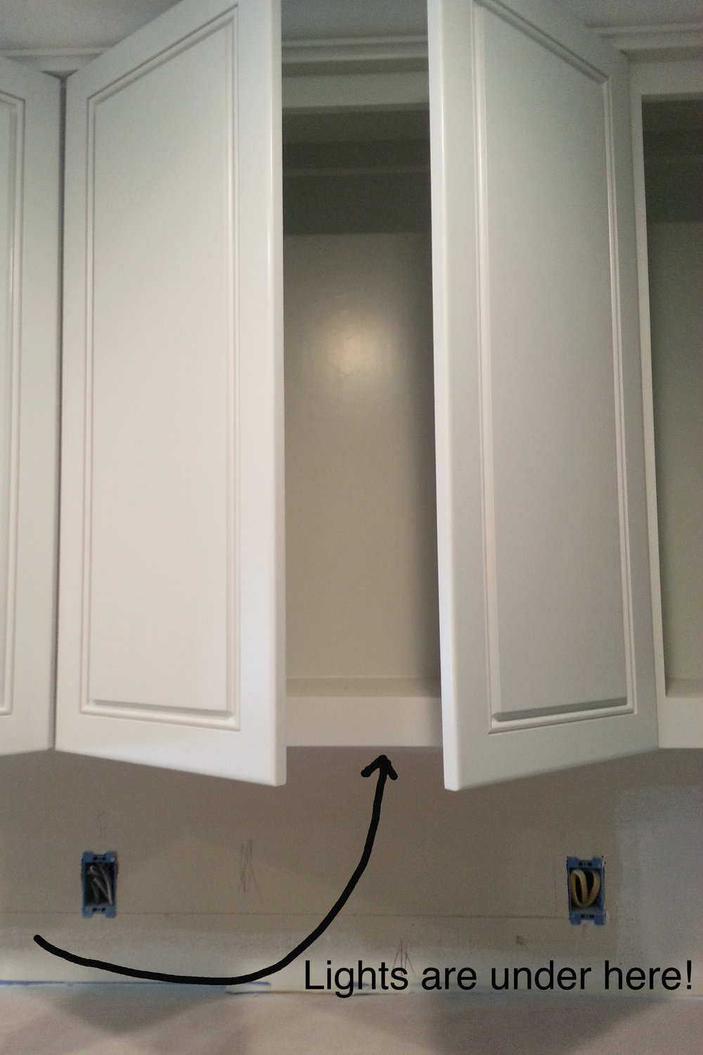 How to install under cabinet lighting in a new kitchen. Kitchen remodel. Jamie House Design