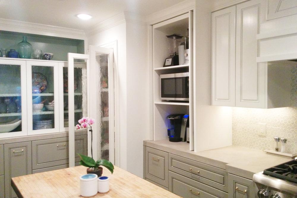 Appliance garage in Houston kitchen remodel by Jamie House Design