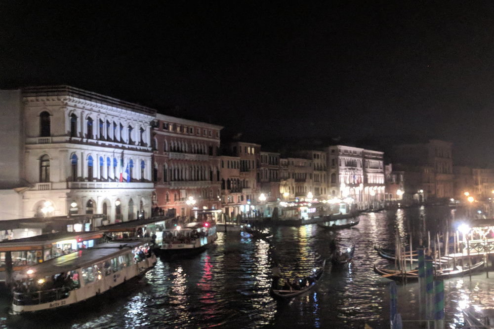 Venice at night. JHD Travels Venice travel blog. Interior designer Jamie House.