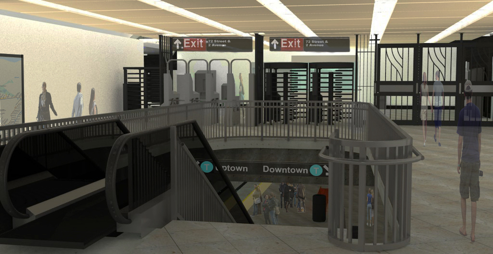 MTA 72nd St Station - 2nd Ave Subway Line