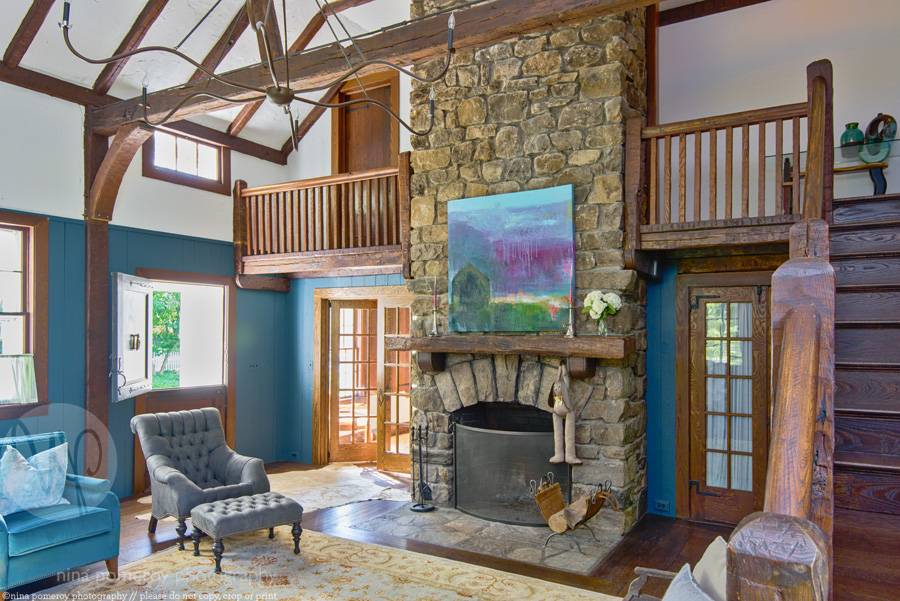 farm house living room antique historic ridgefield CT interiors photographer ninapomeroy.com