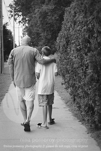 father son walking photo moments NY photographer ninapomeroy.com