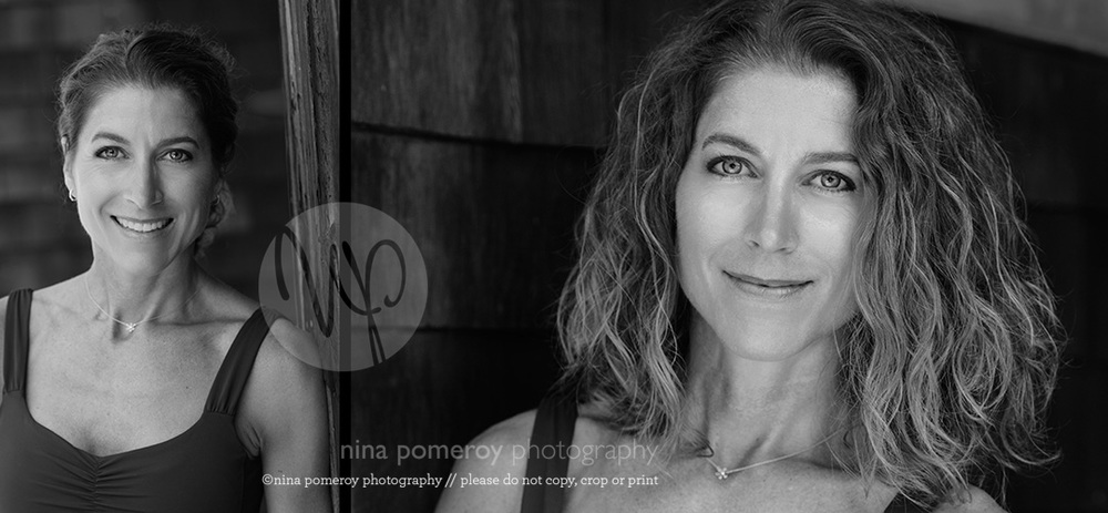 Yoga teacher headshot Connecticut ninapomeroy.com