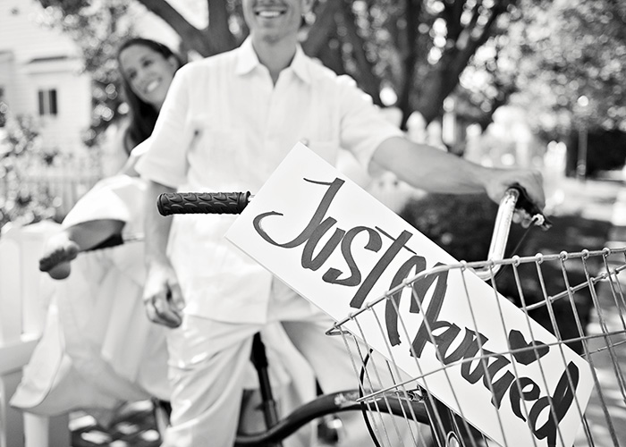 summer wedding tandem bike bride groom ©ninapomeroy.com photographer danville livermore napa sonoma