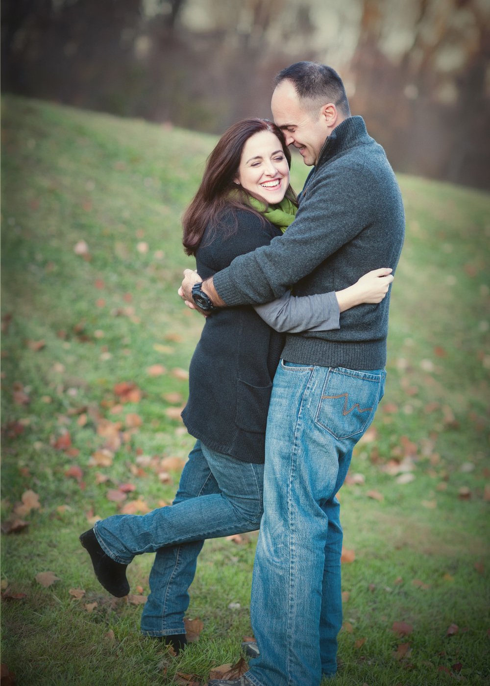 Anniversary Portraits at a Pleasanton Park laughter and hugs