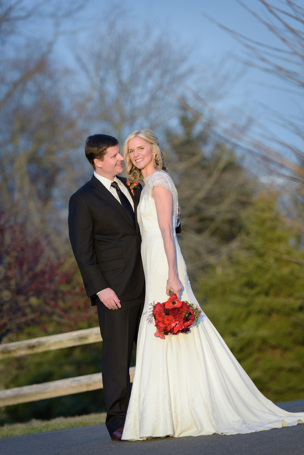 winter wedding laughter bride groom wilton countryclub sunset photographer ©ninapomeroy.com photography