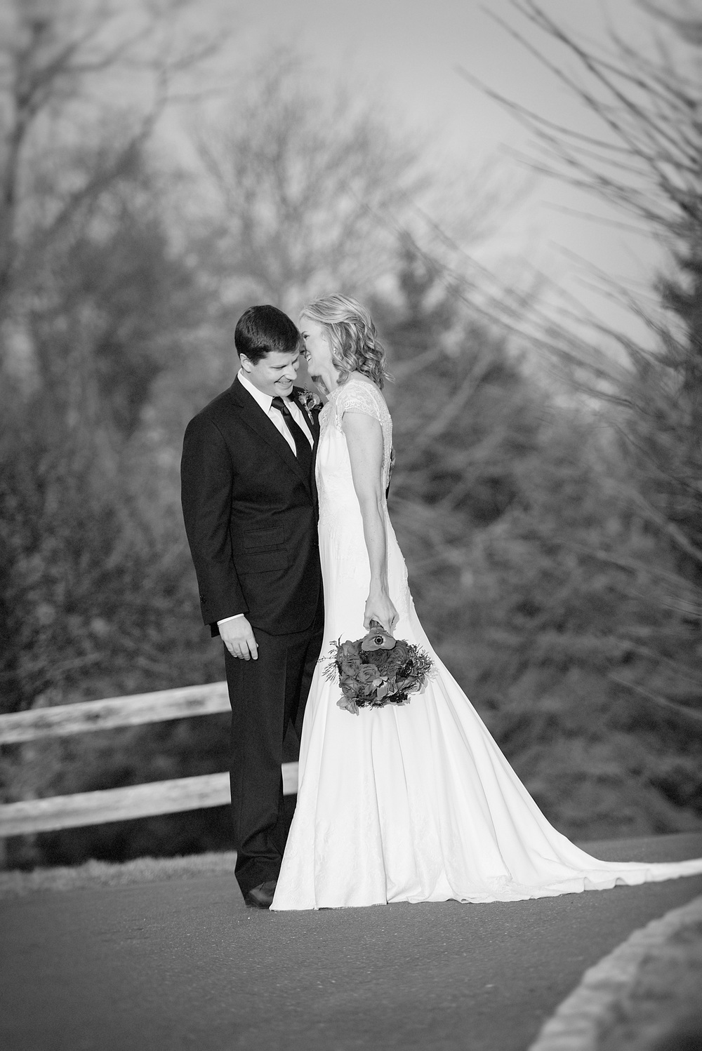 winter wedding laughter black white portrait bride groom countryclub sunset san ramon ©ninapomeroy.com