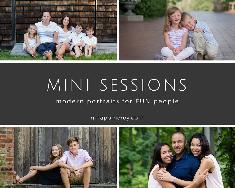 Mini sessions for family and children portraits in the bay area by nina pomeroy