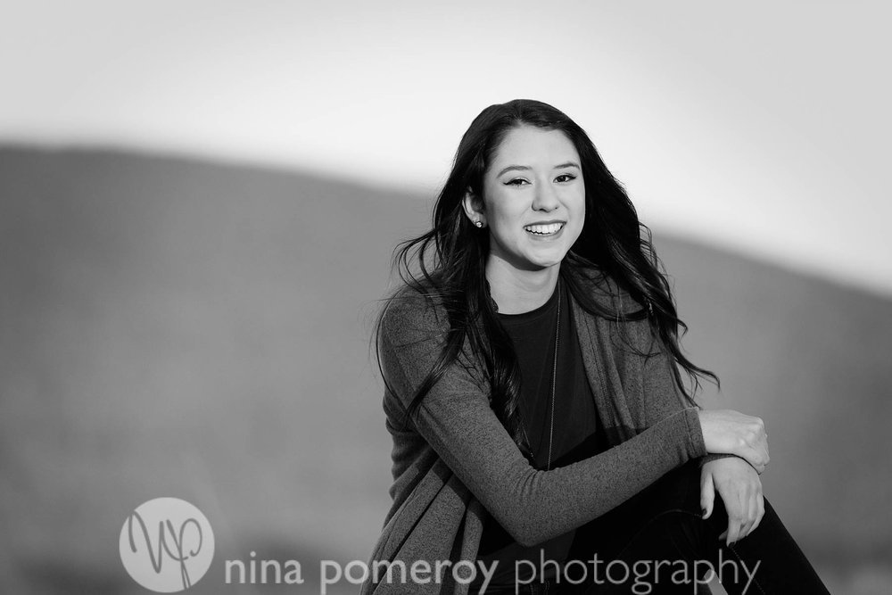 casual fun senior portrait photos in San Ramon by Nina Pomeroy.