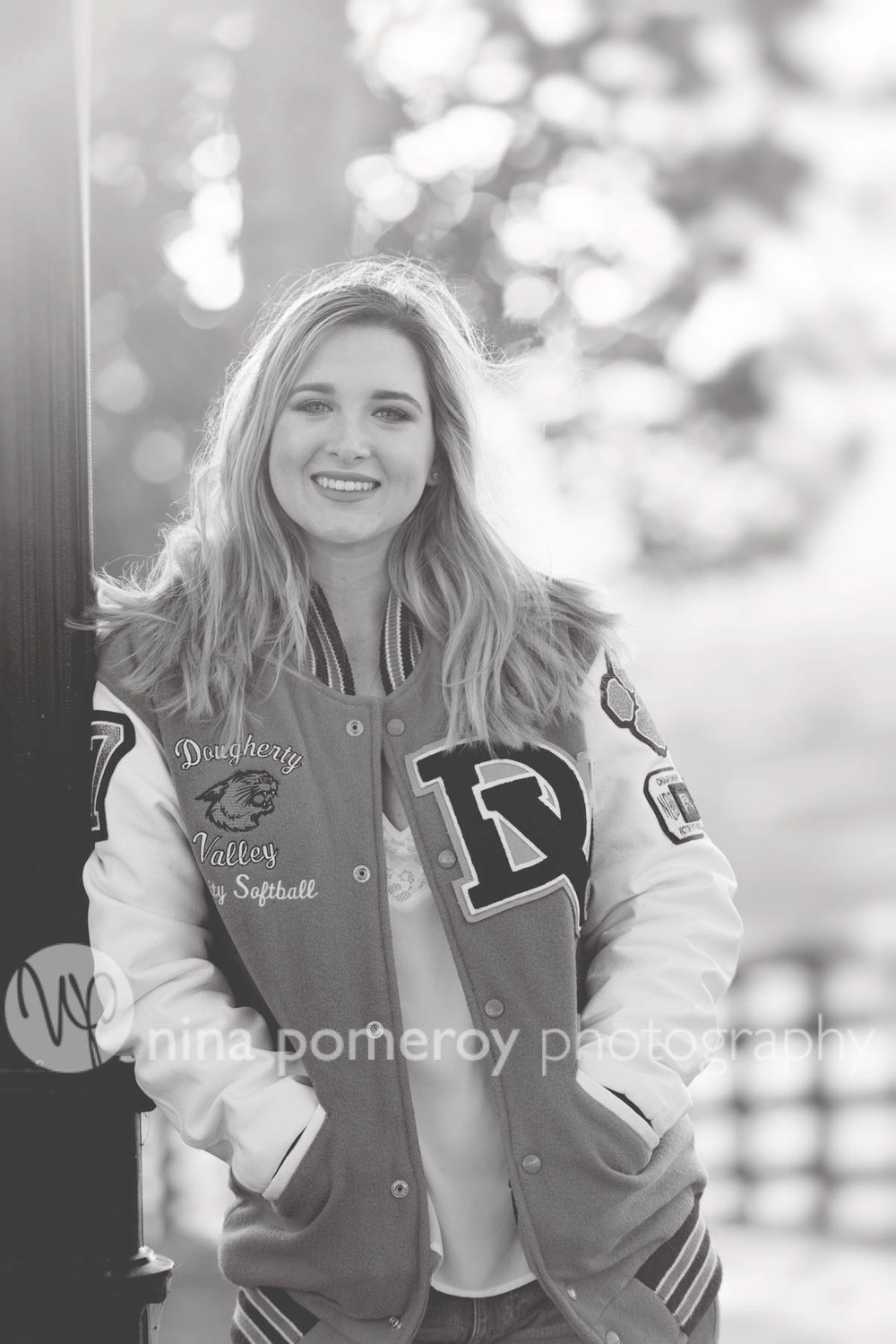 DVHS senior jackets make great senior photos with Nina Pomeroy Photography