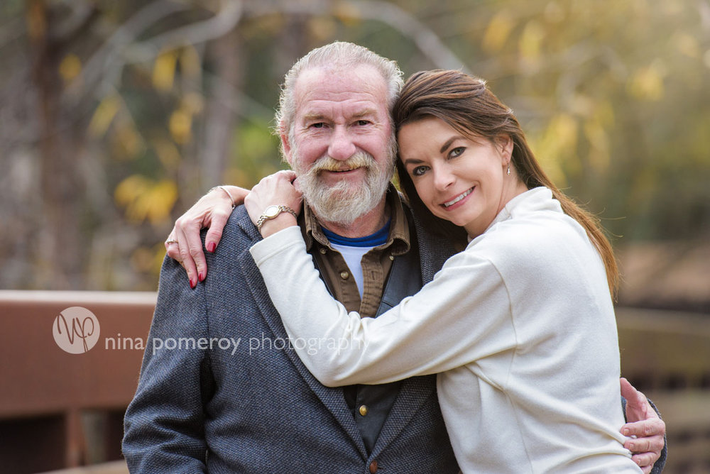 adult daughter and father portrait in danville park san francisco photographer nina pomeroy