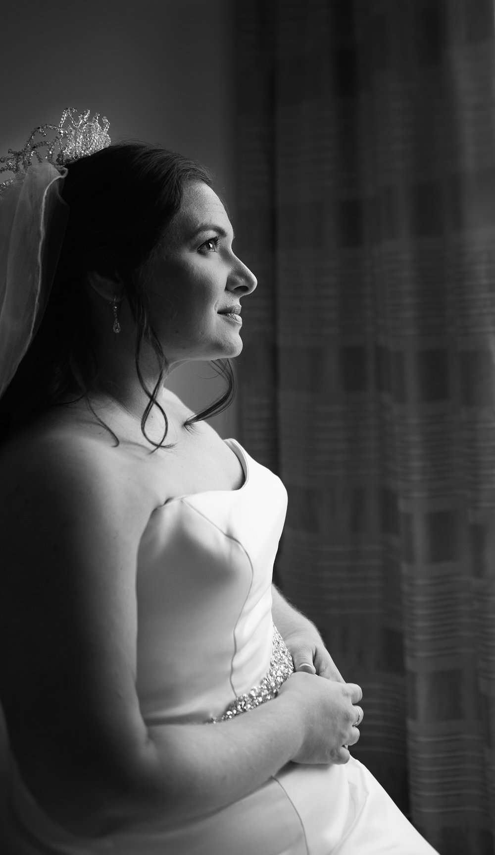 Bridal Portrait of a Lesbian Gay Wedding at the Alfond Inn of Winter Park Orlando Florida