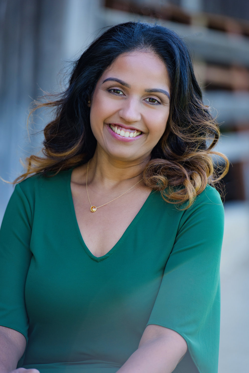 Indian Female small business owner of hair salon and barber shop in Pleasanton California south of San Francisco.
