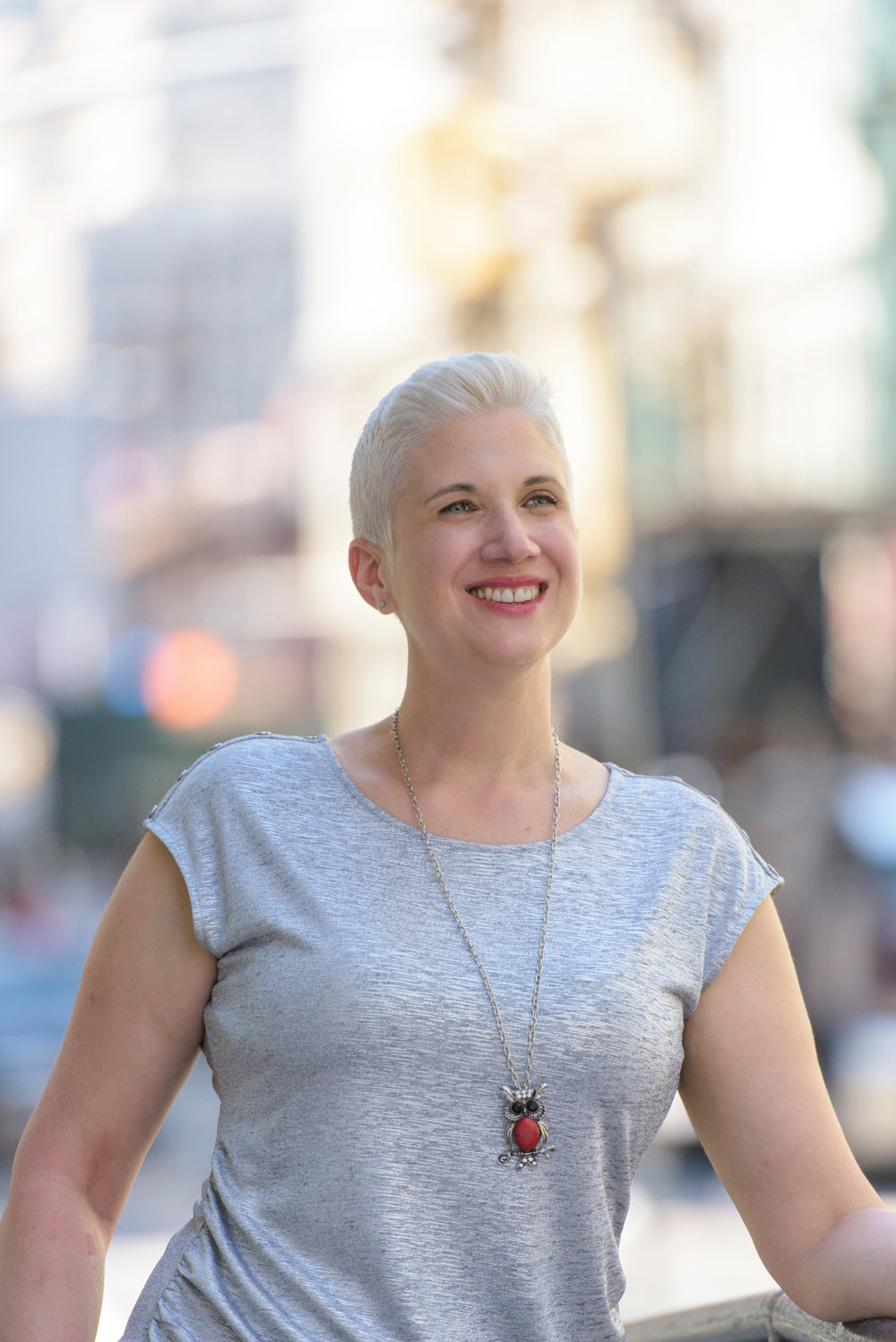 Changemaker and female author writer photographed on location in San Francisco