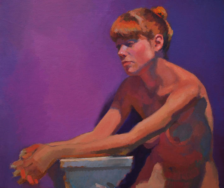 Figure with Purple Drapery