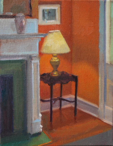 Interior with Yellow Lamp