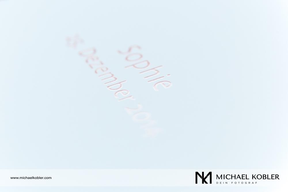Albumaufdruck mit partieller Lackhervorhebung für den perfekten Blickfang.