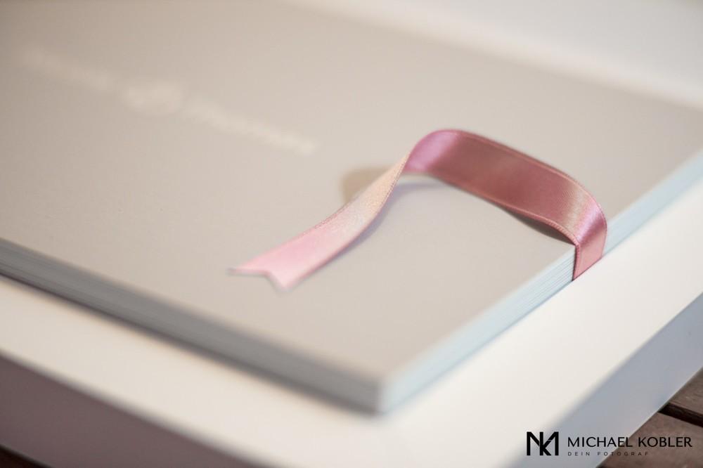 Elegantes Hochzeitsalbum mit Aufbewahrungsbox
