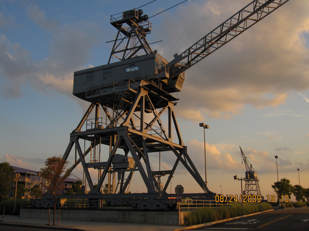 IKEA preserved the Todd Shipyard gantry cranes