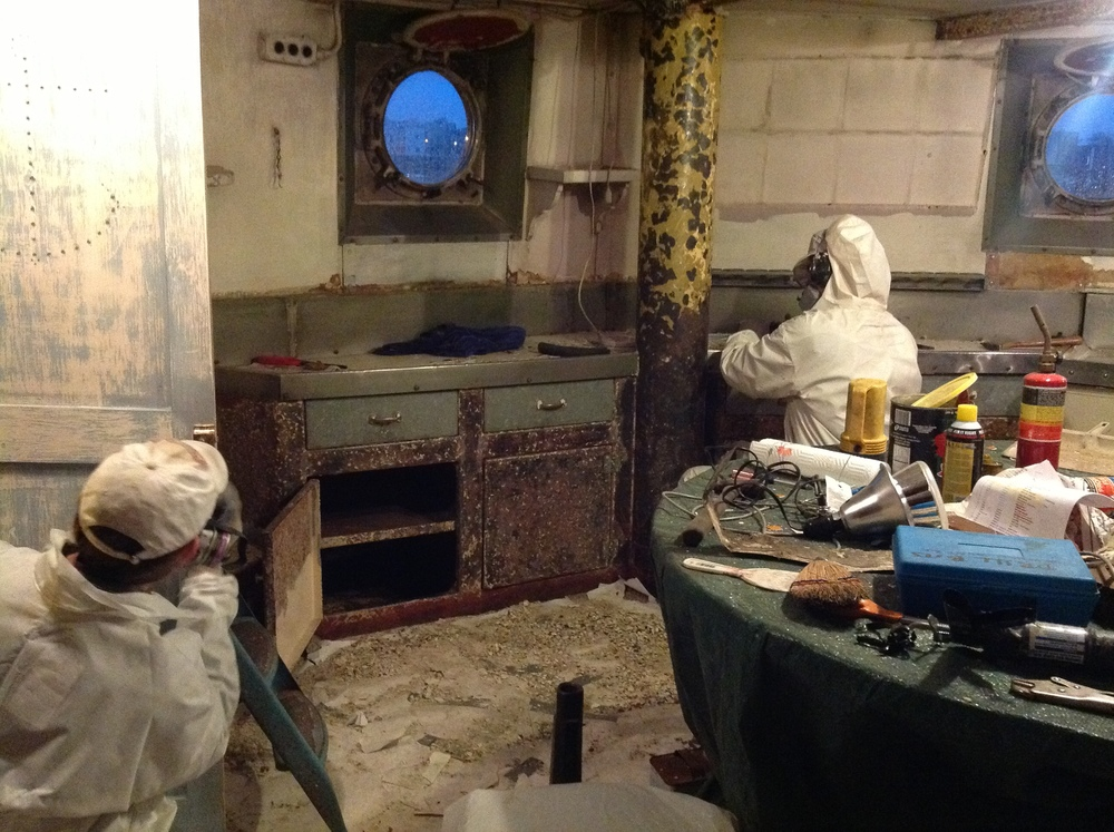 great strides on the galley renovation  update on  u0026quot this old