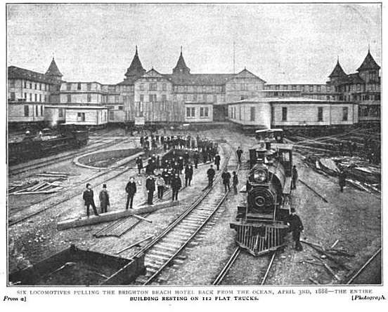 Moving Brighton Beach Hotel, 1888