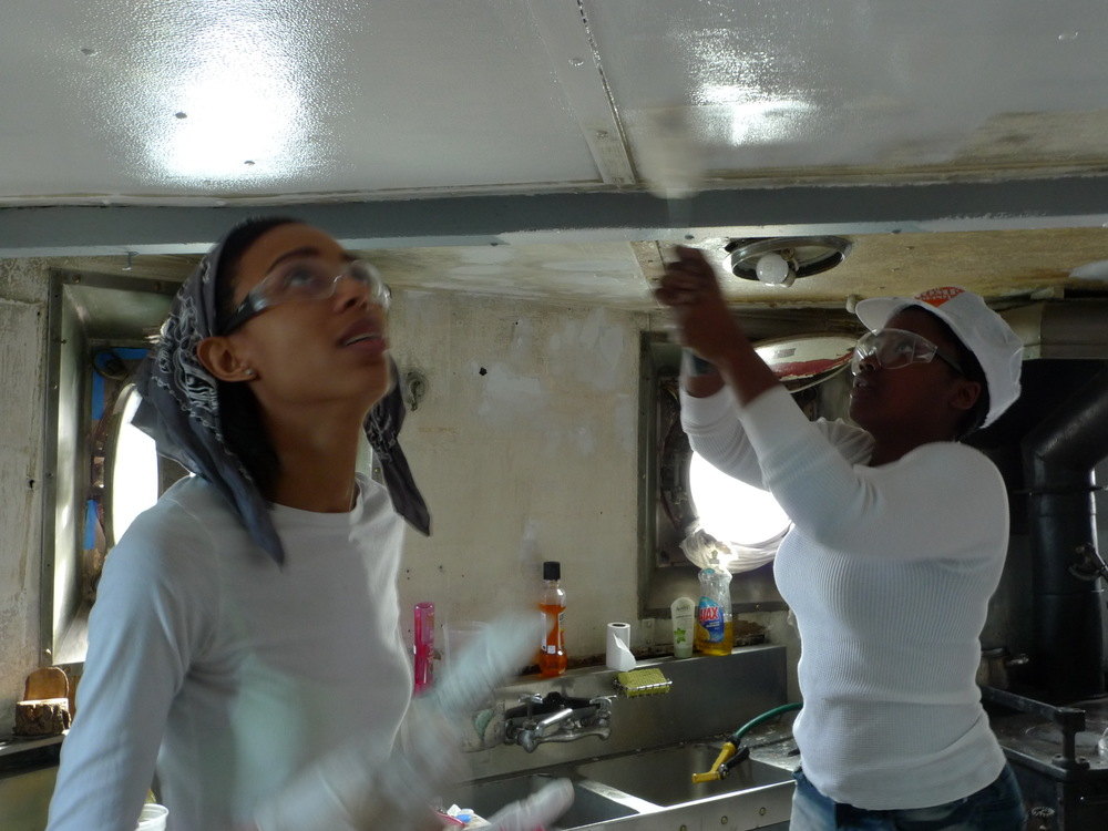 140311 Volunteers Painting Galley (10).JPG