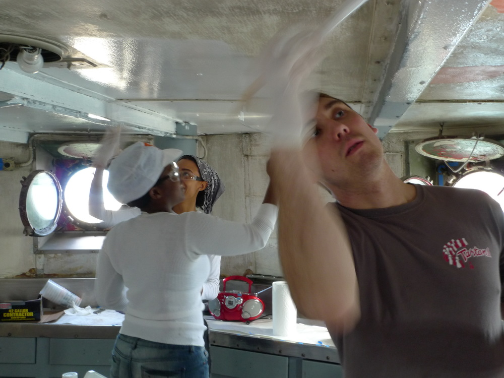 140311 Volunteers Painting Galley (5).JPG
