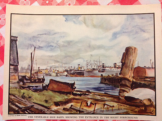 PortSide recently acquired this page from an old magazine showing a view of the Erie Basin during the era described in this interview.