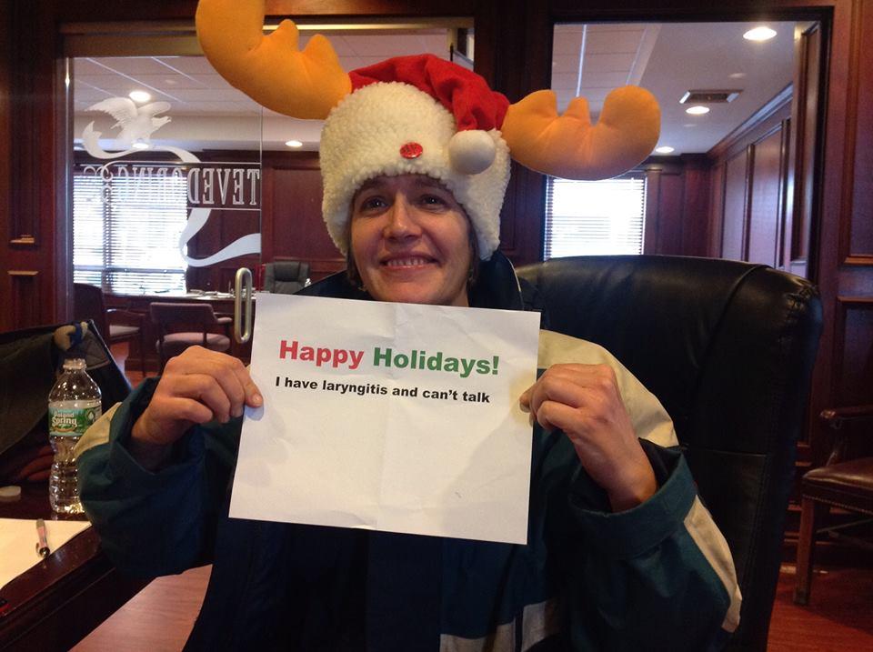 141223 CSS in moose christmas hat laryngitis.jpg