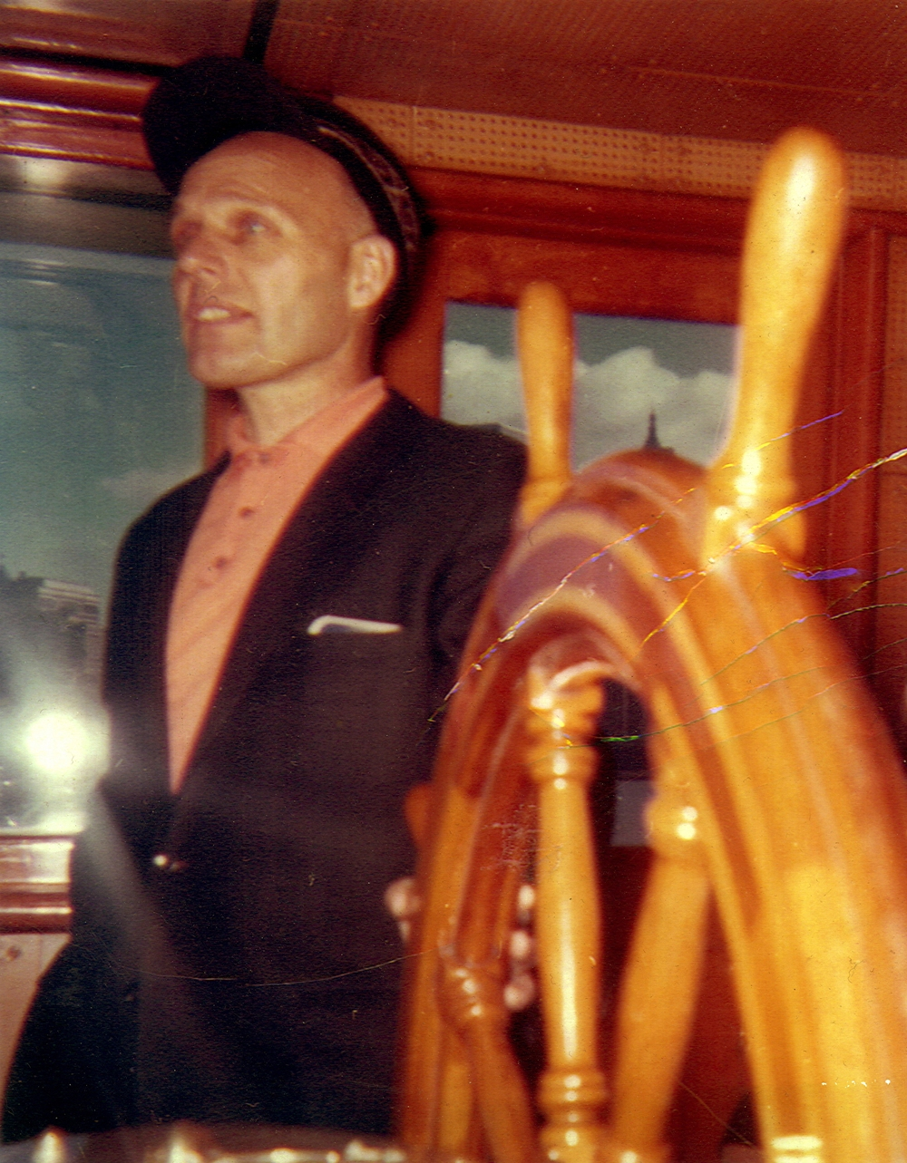 Alf Dyrland at the wheel Corrctd 1962.jpg