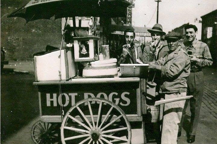 Red hook hot dog cart