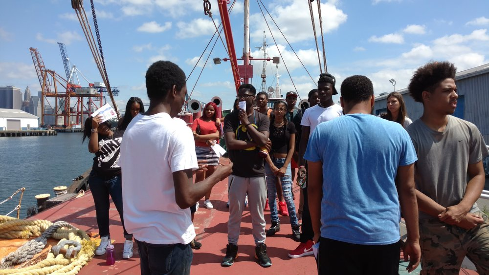 We gave a tour of the ship to young teenagers who were from the non-profit organization, Red Hook Initiative