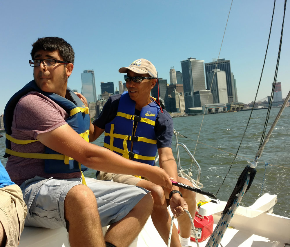 Steering the sailboat