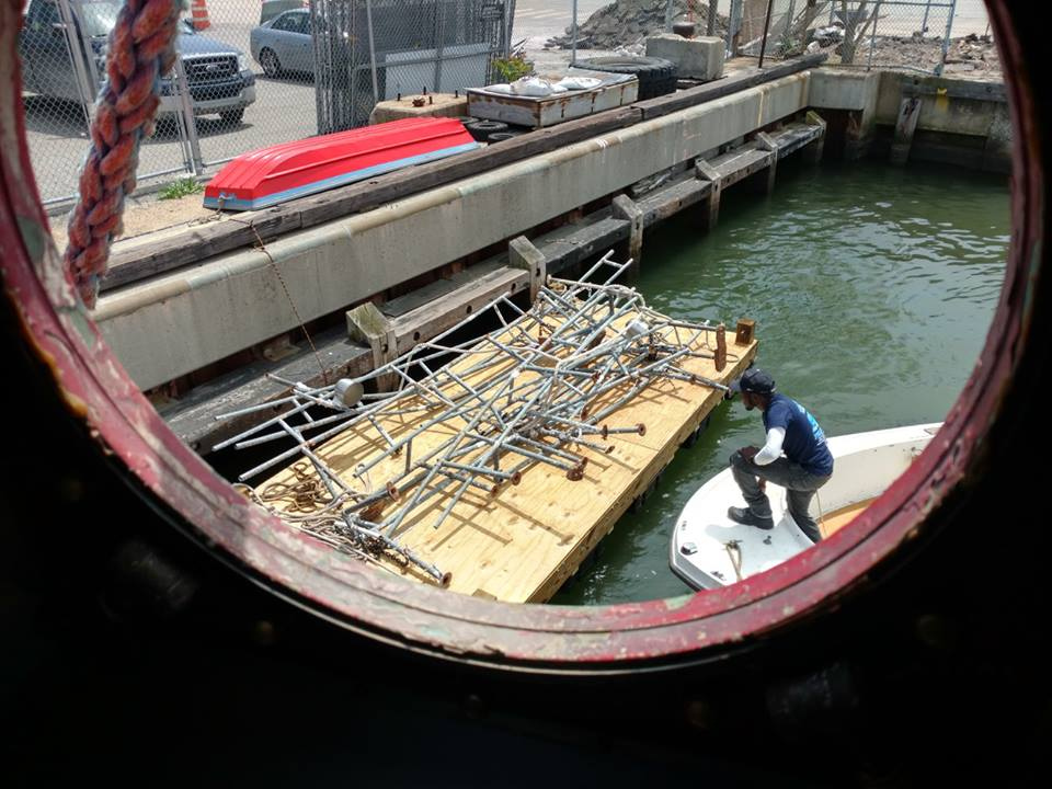 using our new float to store railings removed from the commander